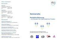 Seminarreihe Rechtliche Betreuung - Kreis Unna