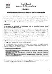 Merkblatt Trinkwasserversorgung auf Märkten und bei ... - Kreis Soest