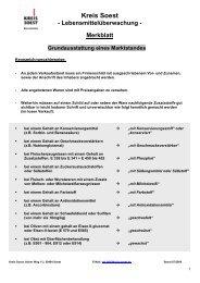 Merkblatt Grundausstattung eines Marktstandes - Kreis Soest