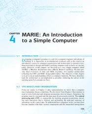 An Introduction to a Simple Computer - Jones & Bartlett Learning