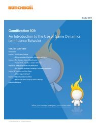 Gamification 101: An Introduction to the Use of Game ... - Bunchball
