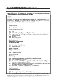 Das neue Landespflegegesetz -in Kraft ab 01.08.2003- - Kreis Soest