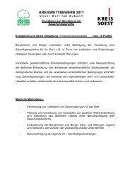 Grundlagen zur Beurteilung - Kreis Soest