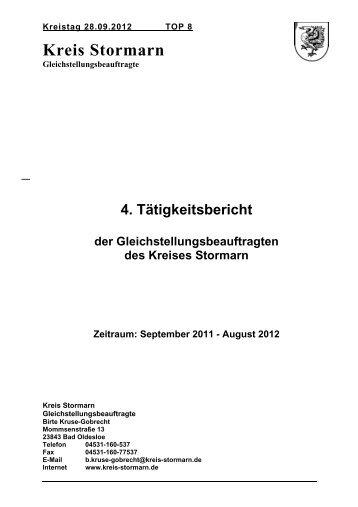 4. Tätigkeitsbericht der Gleichstellungsbeauftragten ... - Kreis Stormarn
