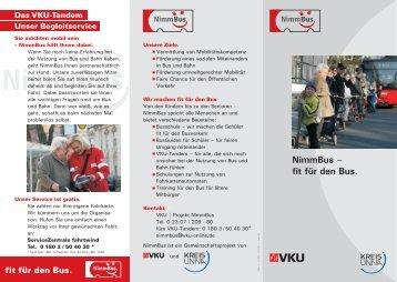 NimmBus Flyer - Kreis Unna