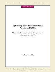 Optimizing Store Execution Using Portals and WANs