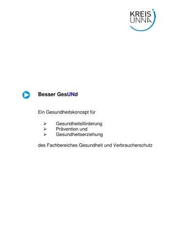 """Gesundheitskonzept """"Besser GesUNd"""" - Kreis Unna"""