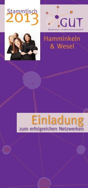 Gründerinnen Programm Hamminkeln - Kreis Wesel