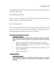 Council Minutes Monday, November 19, 2007 - City Of St. John's
