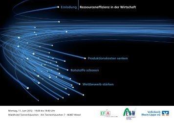 Ressourceneffizienz in der Wirtschaft - Kreis Wesel