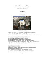 Irvine Campus Task Force Final Report - California State University ...