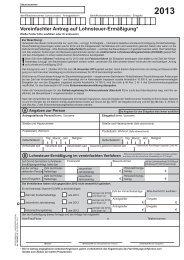 Vereinfachter Antrag auf Lohnsteuer-Ermäßigung 2013