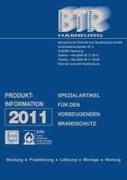 spezialartikel für den vorbeugenden brandschutz - BTR Hamburg