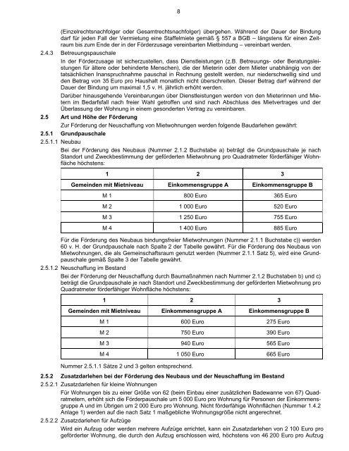 Wohnraumförderungsbestimmungen - Kreis Soest