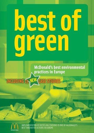 Best of Green Report download PDF - McDonalds Virtual Press Office