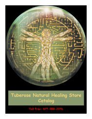 Tuberose Natural Healing Store Catalog