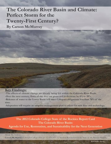 The Colorado River Basin and Climate: Perfect Storm for the Twenty ...