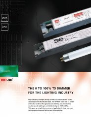 THE 0 TO 100% T5 DIMMER FOR THE LIGHTING INDUSTRY