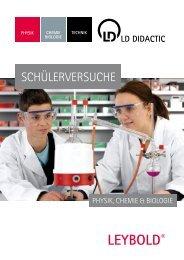 SCHÜLERVERSUCHE - LD DIDACTIC