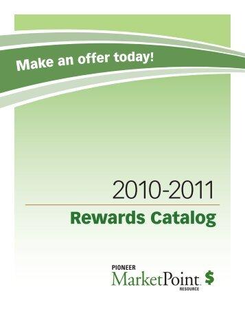 Rewards Catalog - Pioneer