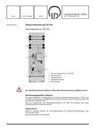 Bestimmungsgemäßer Gebrauch - LD DIDACTIC