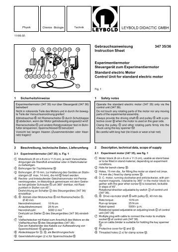LEYBOLD DIDACTIC GMBH Gebrauchsanweisung 347 35/36 ...