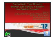 Perched Water Table Mounding Between Subsoil ... - GEMS Event