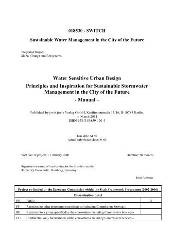 Water Sensitive Urban Design Principles and Inspiration for - SWITCH