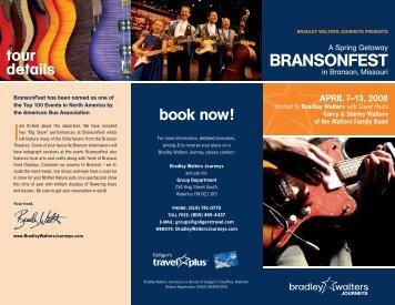 BrANsoNFEsT - Bradley Walters Journeys