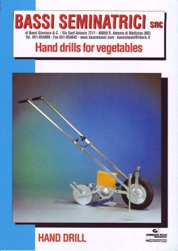 Hand drills for  vegetables - Kress-landtechnik.de