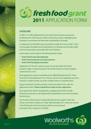 guidelines - Woolworths wowlink