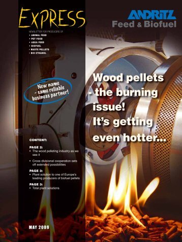 Wood pellets - the burning issue! It's getting even hotter... - Andritz