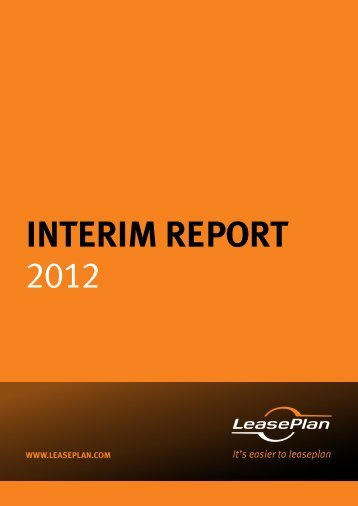 interim rePOrt 2012 - LeasePlan