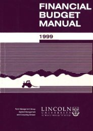 Financial Budget Manual 1999 - Lincoln U Research Archive ...