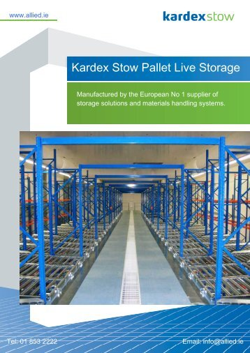 Pallet Live Storage - Allied Ireland