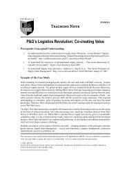 P&G's Logistics Revolution: Co-creating Value - Case Studies