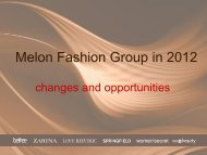 Melon Fashion Group in 2012 - East Capital