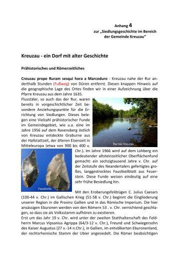 11 Kreuzau - ein Dorf mit alter Geschichte - Gemeinde Kreuzau