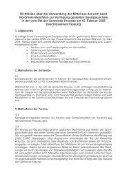 Richtlinien über die  Verwendung der Mittel der Sportpauschale
