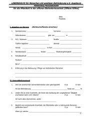 Personalfragebogen Betreuer - Lebenshilfe Augsburg eV