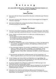 Download Satzung als PDF - Lebenshilfe Pforzheim Enzkreis eV