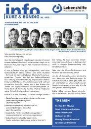 info KURZ & BÜNDIG Nr. - Lebenshilfe Pforzheim Enzkreis eV