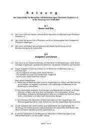 S a t z u n g - Lebenshilfe Pforzheim Enzkreis eV