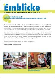 Einblicke - Lebenshilfe Pforzheim Enzkreis eV