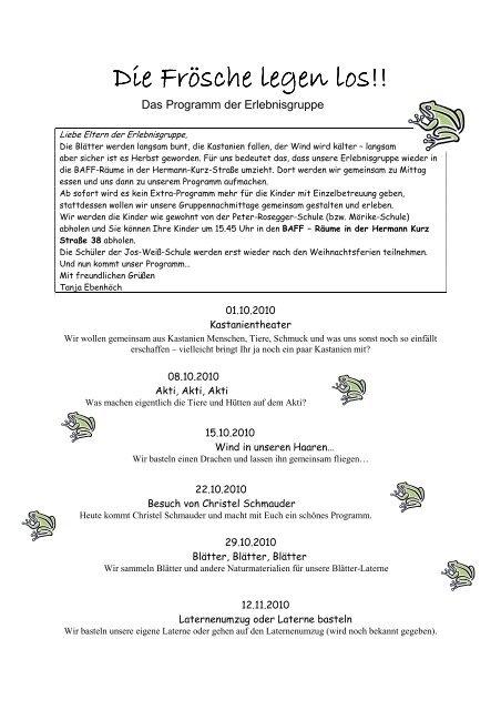 Programm Oktober-Dezember10 - Lebenshilfe - Reutlingen