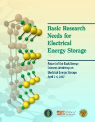 Basic Research Needs for Electrical Energy Storage: Report of the ...