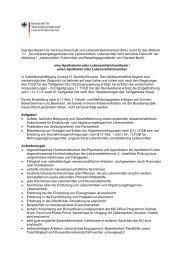 (BVL) sucht für das Referat 1 0 1