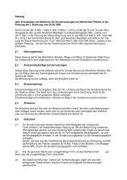 Satzung über Erlaubnisse und Gebühren für ... - Kreuztal