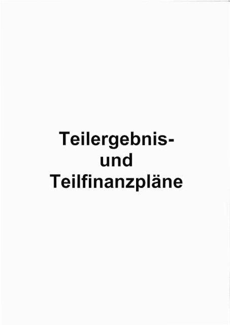 Tei|ergebnis und Teilfinanzpläne - Kreuztal