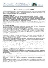 Referat af generalforsamling 2009 - Badelauget